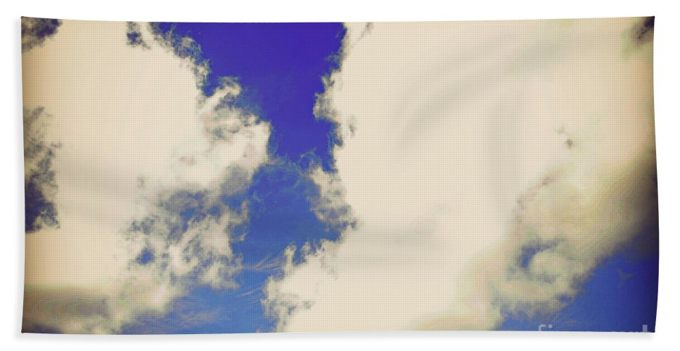Clouds Bath Sheet featuring the photograph Clouds-10 by Paulette B Wright