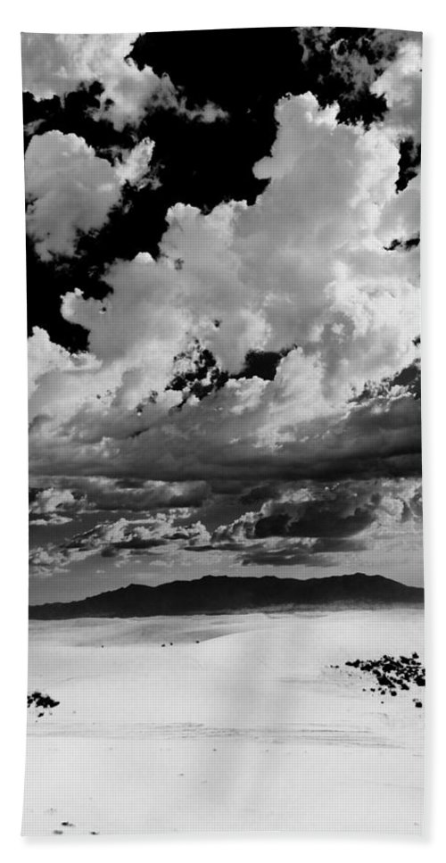 White Sands National Monument Hand Towel featuring the photograph Clouds Above White Sands by Ralf Kaiser