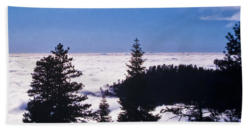 Mountains Bath Sheet featuring the photograph Clouds At Sequoia National Park by Stephen Whalen