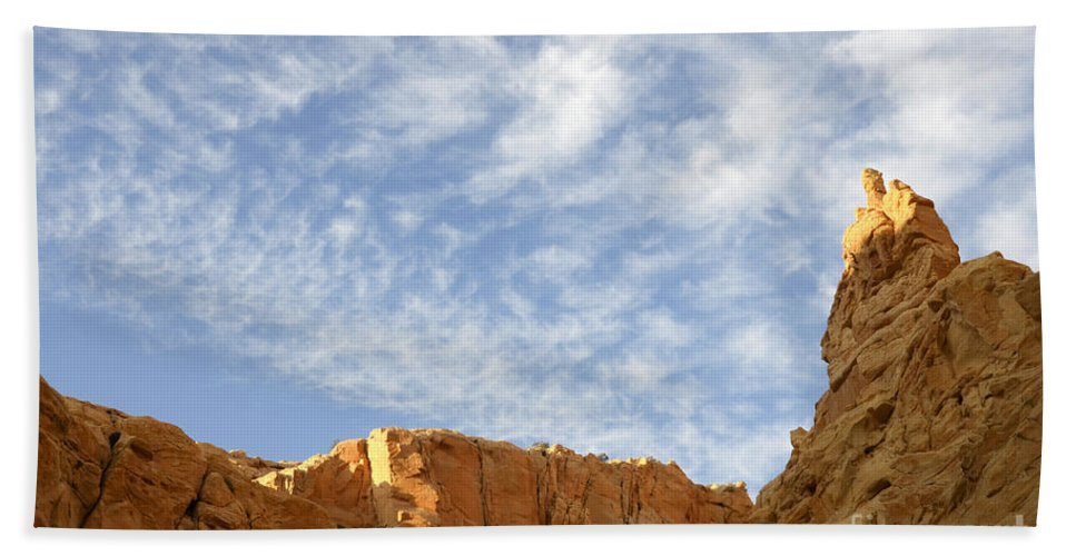 Beauty Of Sandstone Bath Sheet featuring the photograph Desert Landscape by Bob Christopher