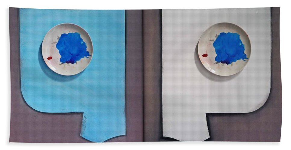 Photoghraph Hand Towel featuring the painting Clouds by Charles Stuart
