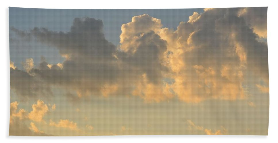 Clouds Bath Sheet featuring the photograph Clouds Of White Light by Maria Urso