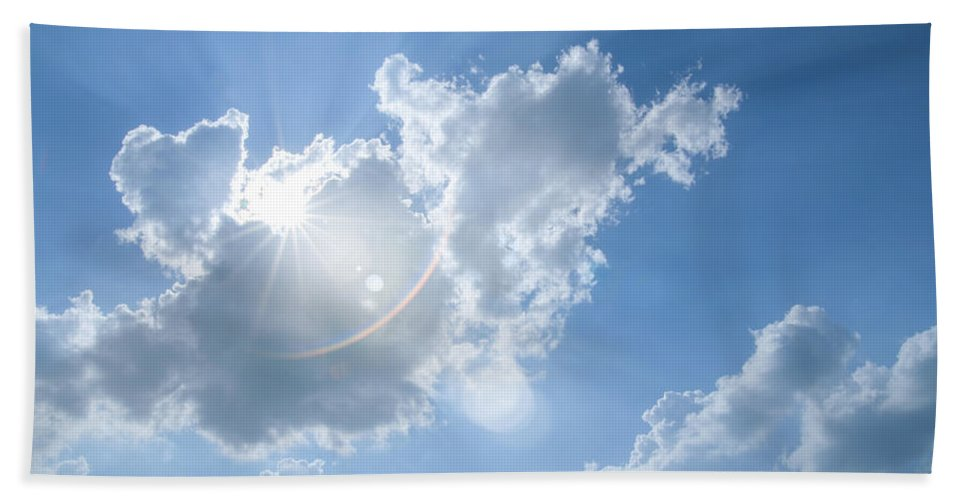 Sunburst Bath Sheet featuring the photograph Cloudscape by Amanda Elwell