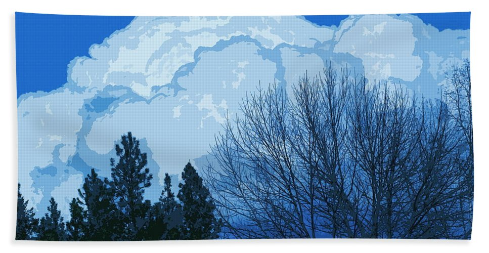 Clouds Hand Towel featuring the photograph Cloudy Blue Dream by Ben Upham III