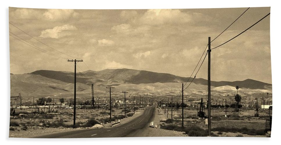 Mountains Bath Sheet featuring the photograph Coalinga by Stephen Whalen