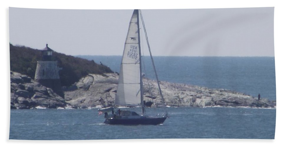 Newport Ri Bath Sheet featuring the photograph Coastal Newport Ri by Michelle Welles