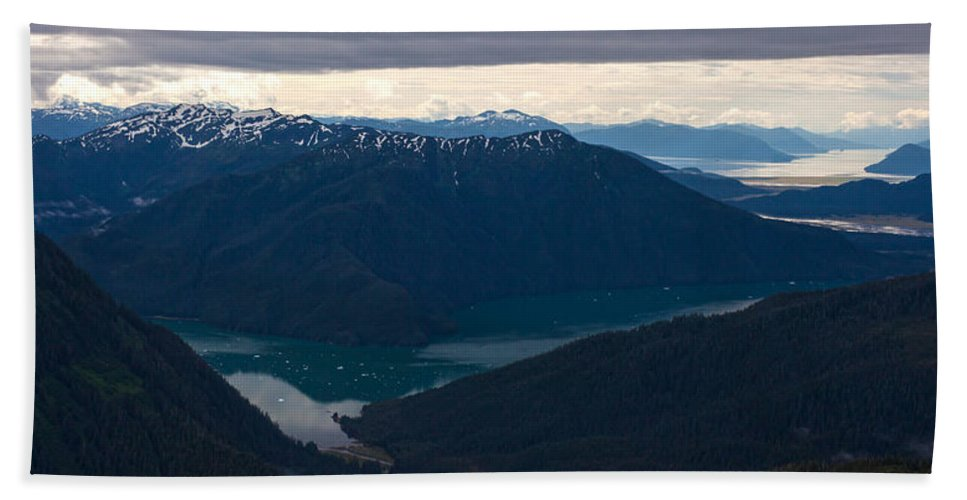 Frederick Sound Bath Sheet featuring the photograph Coastal Range Fjords by Mike Reid