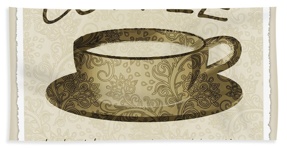 Coffee Bath Sheet featuring the digital art Coffee Cup 3 Scrapbook by Angelina Vick