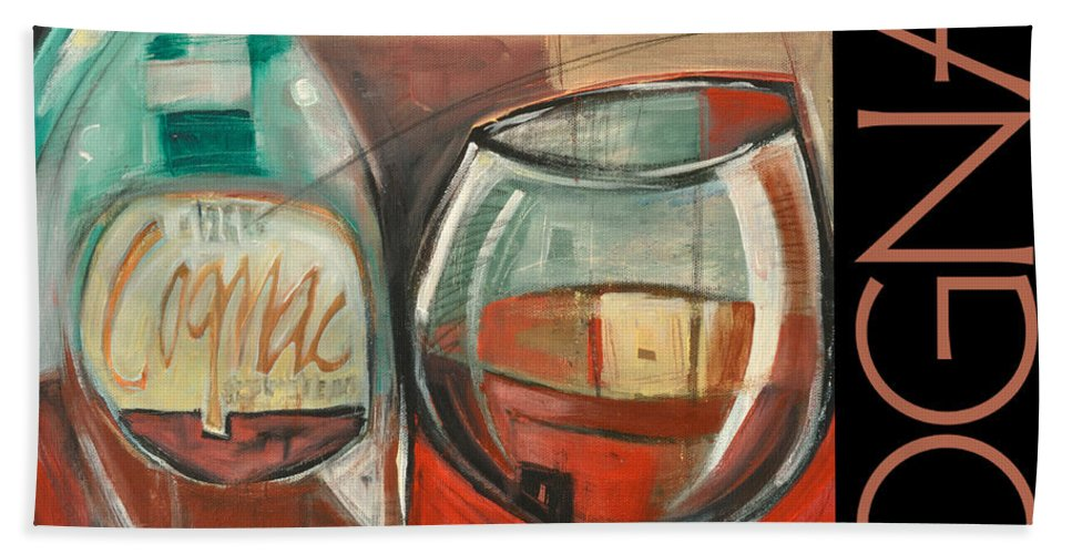 Beverage Bath Sheet featuring the painting Cognac Poster by Tim Nyberg