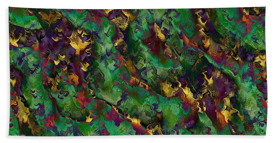 Abstract Hand Towel featuring the digital art Coherent States by Richard Kelly