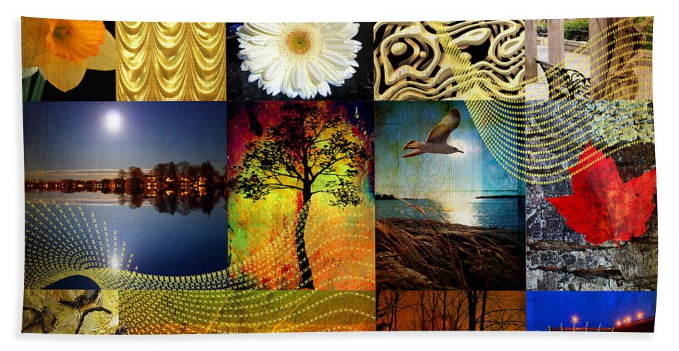 Collage Hand Towel featuring the photograph Collage Of Colors by Mark Ashkenazi
