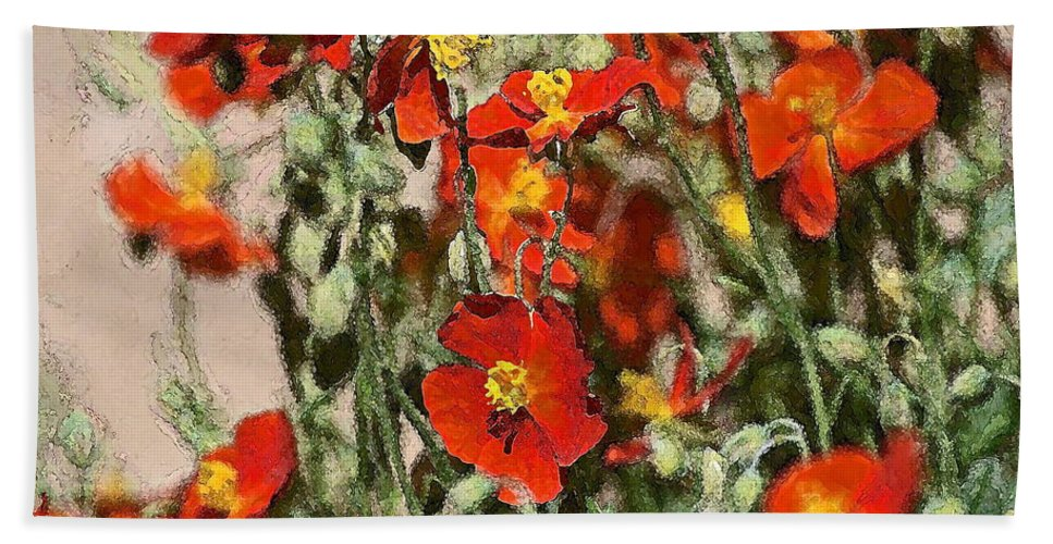 Floral Hand Towel featuring the photograph Color 82 by Pamela Cooper