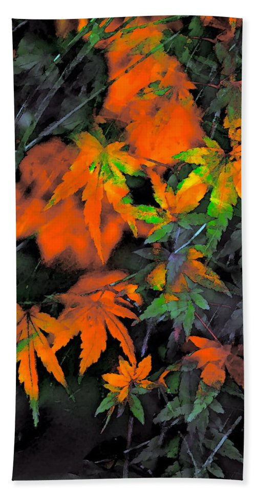 Leaves Bath Sheet featuring the photograph Color 92 by Pamela Cooper