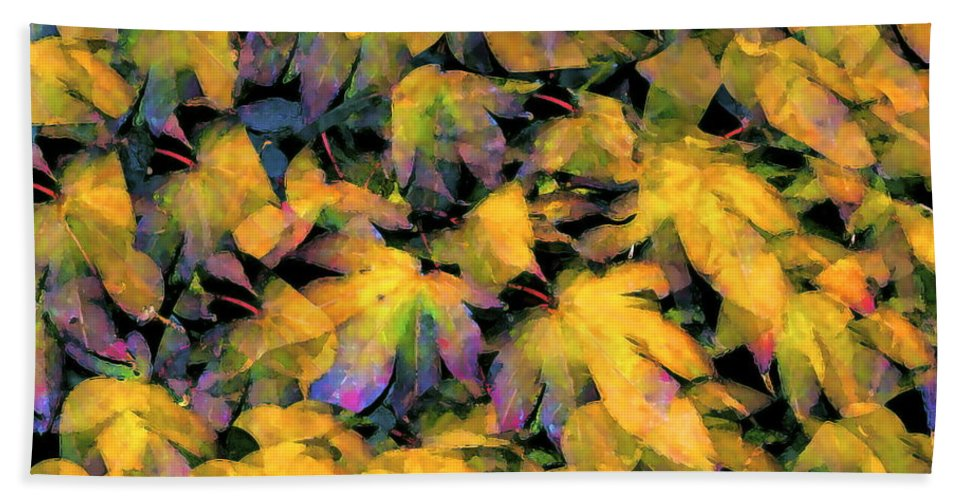 Leaves Bath Sheet featuring the photograph Color 93 by Pamela Cooper