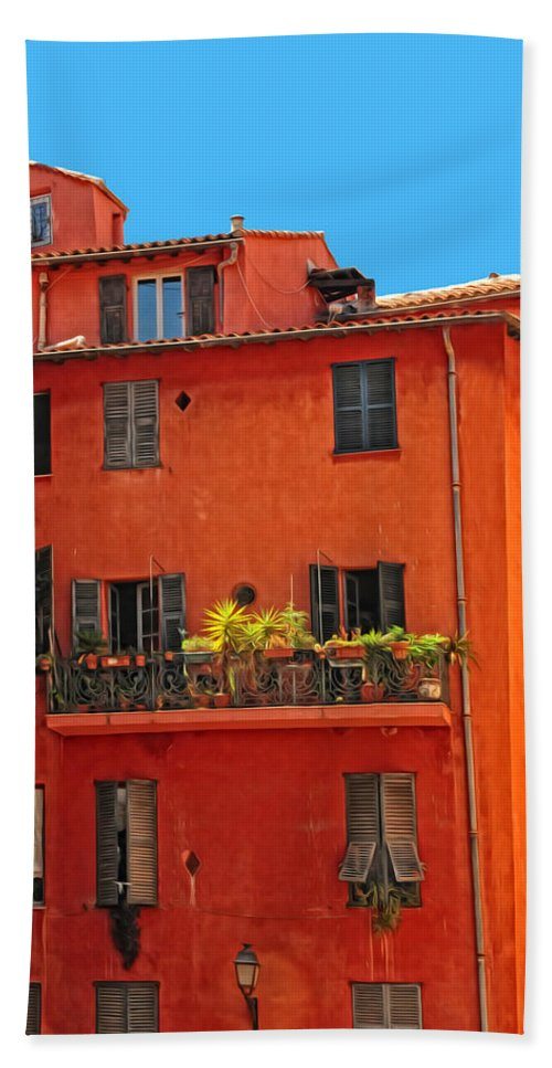 Provence Hand Towel featuring the photograph Color In Provence by Dave Mills