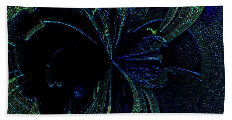 Paula Ayers Bath Sheet featuring the digital art Color Study 02 Green Blue by Paula Ayers