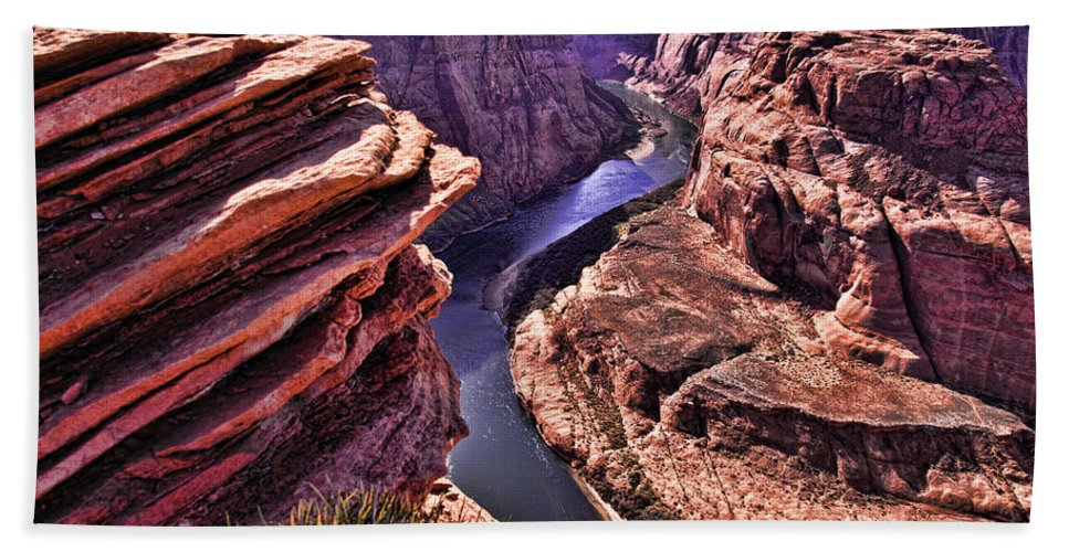 Horseshoe Bend Hand Towel featuring the photograph Colorado River At Horseshoe Bend by Jon Berghoff