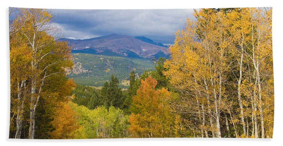 Colorful Hand Towel featuring the photograph Colorado Rocky Mountain Autumn Scenic Drive by James BO Insogna