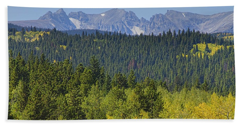 Colorado Hand Towel featuring the photograph Colorado Rocky Mountain Continental Divide Autumn View by James BO Insogna