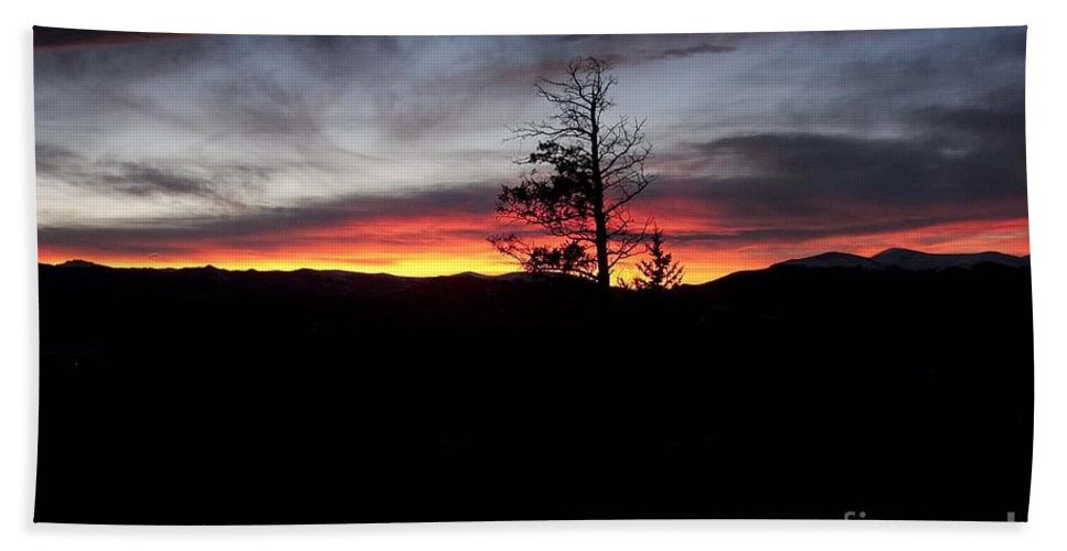 Colorado Bath Sheet featuring the photograph Colorado Sunset by Angelique Olin