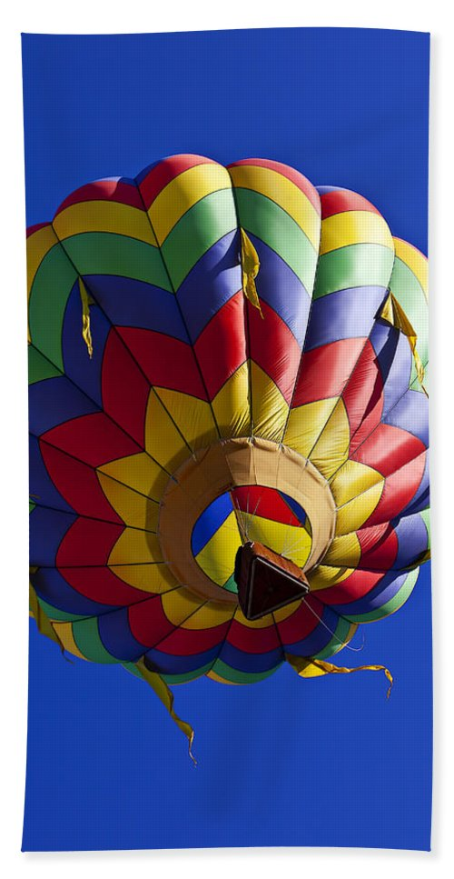 Hot Air Balloon Hand Towel featuring the photograph Colorful Balloon by Garry Gay