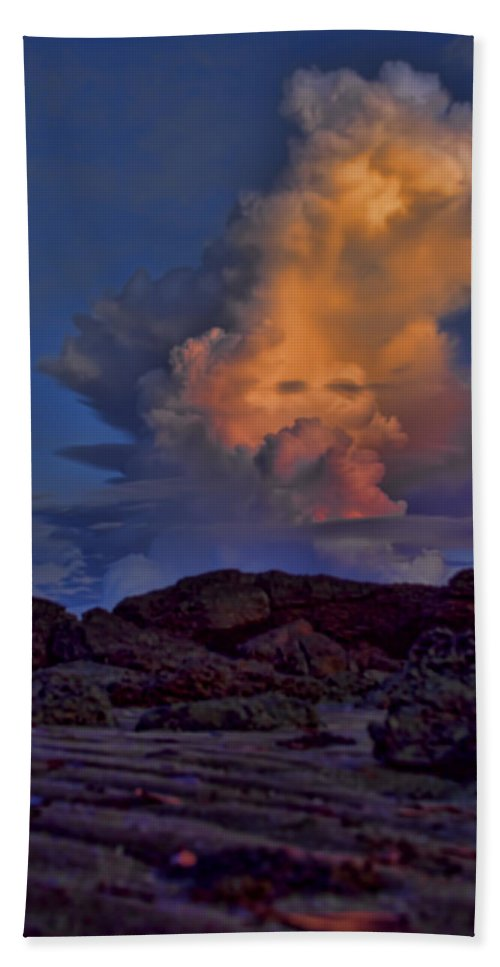Colorful Bath Sheet featuring the photograph Colorful Cloud by Douglas Barnard
