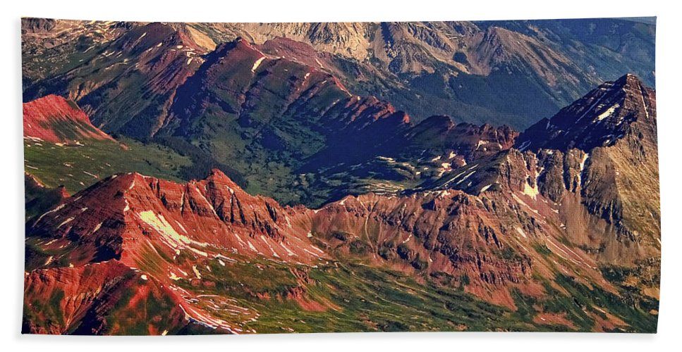 Colorful Hand Towel featuring the photograph Colorful Colorado Rocky Mountains Planet Art by James BO Insogna