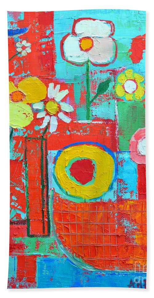 Summer Hand Towel featuring the painting Colorful Summer by Ana Maria Edulescu