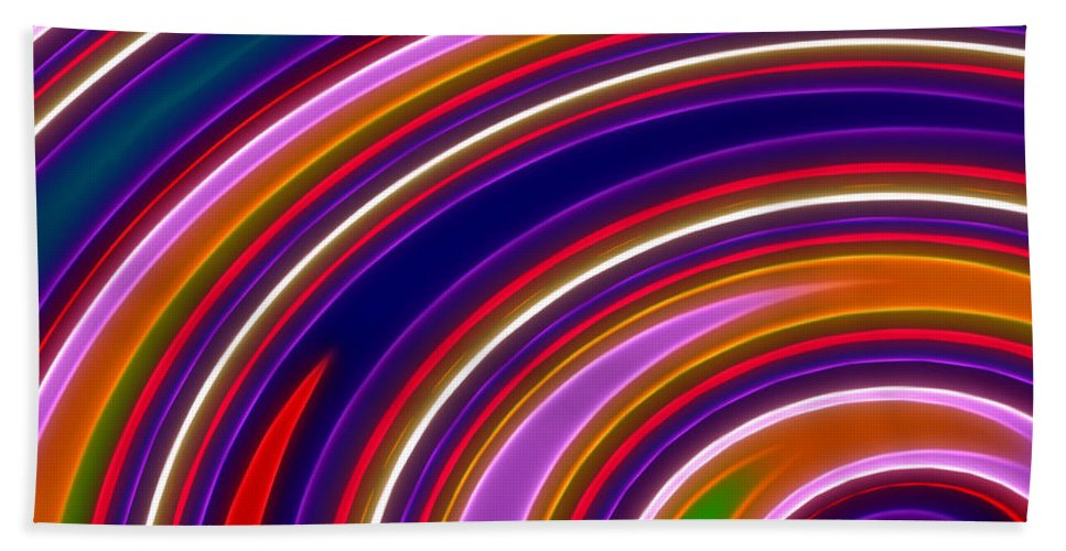 Abstract Hand Towel featuring the digital art Colorful Swirls by Ricky Barnard