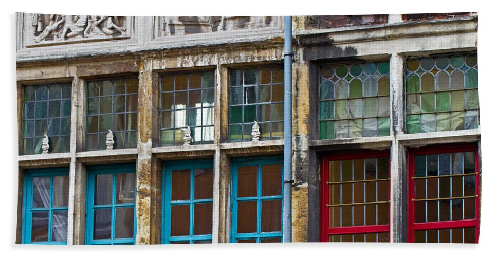 Europe Bath Sheet featuring the photograph Colorful Windows by David Freuthal
