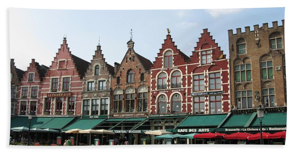 Brugge Bath Sheet featuring the photograph Colors Of Brugge by Ausra Huntington nee Paulauskaite