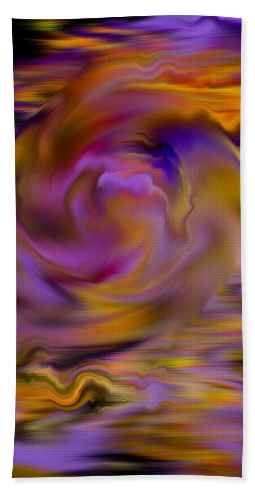 Digital Hand Towel featuring the painting Colourful Swirl by Hakon Soreide