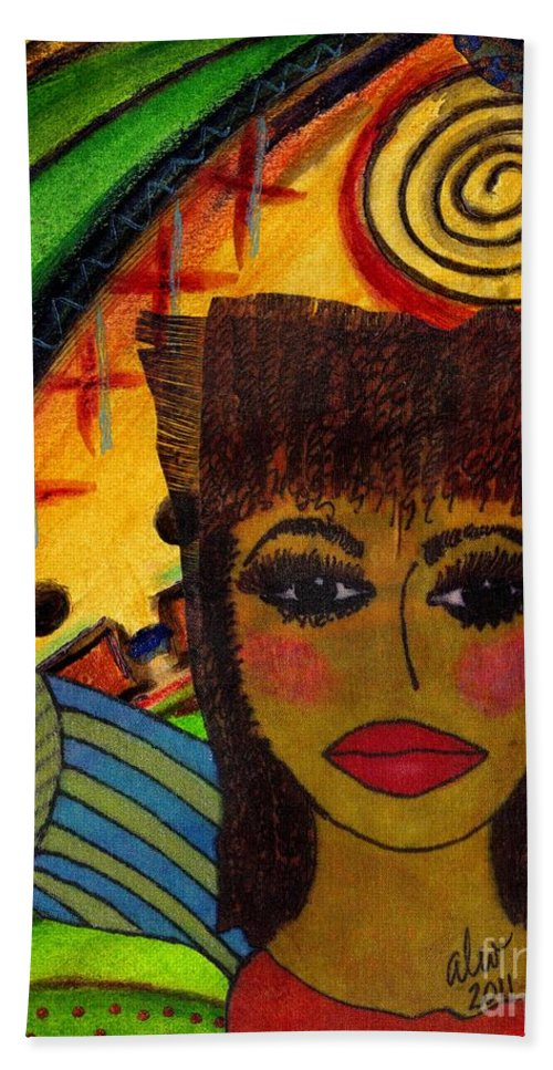 Women Hand Towel featuring the mixed media Come Dream With Me by Angela L Walker
