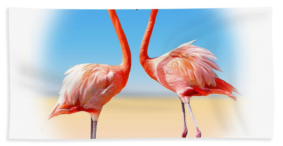Flamingo Hand Towel featuring the photograph Come Fly With Me by Kristin Elmquist