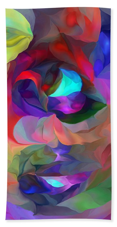 Fine Art Hand Towel featuring the digital art Coming To Consciousness by David Lane