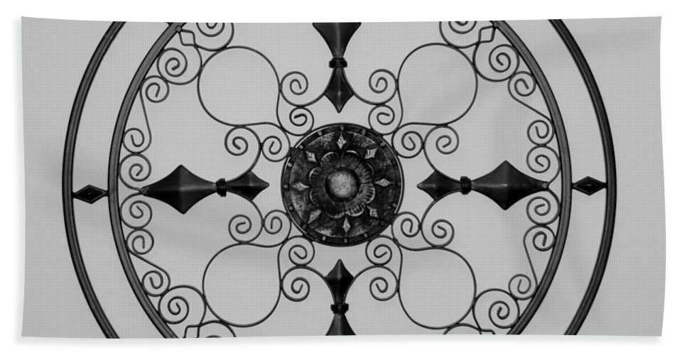 Black And White Hand Towel featuring the photograph Compass In Black And White by Rob Hans