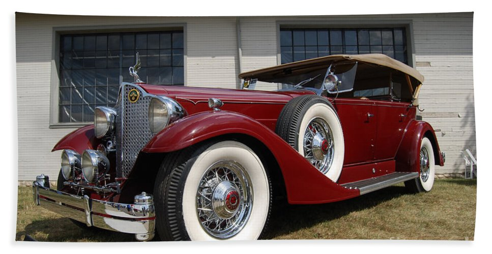Red Bath Sheet featuring the photograph Concours D ' Elegance 1 by Grace Grogan