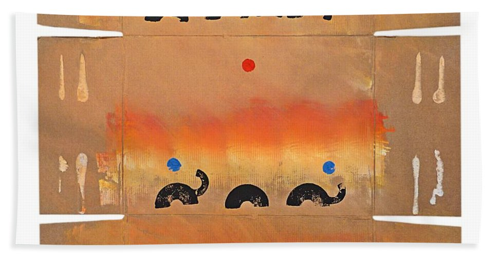 Native Hand Towel featuring the painting Conflagration by Charles Stuart