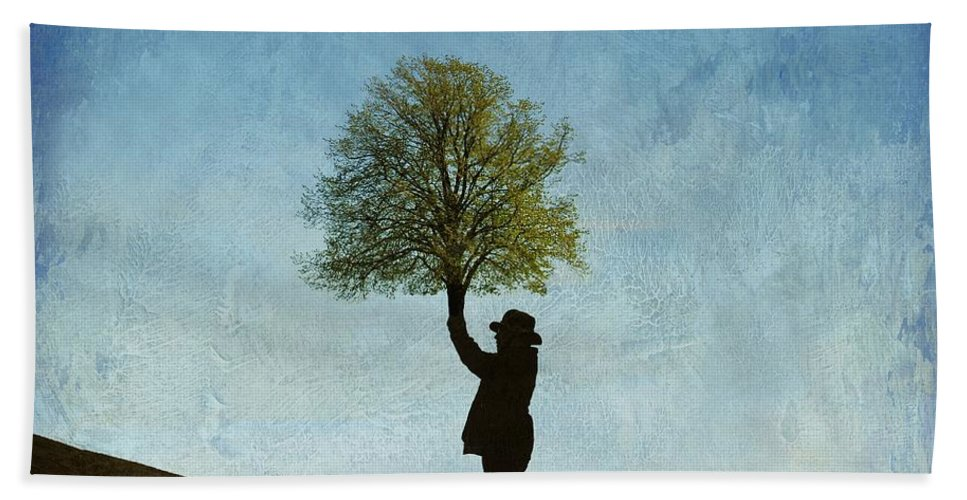 Surrealism Hand Towel featuring the photograph Connection by Sonya Kanelstrand