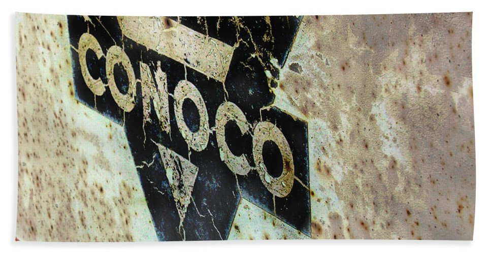 Conoco Hand Towel featuring the photograph Conoco by Adam Vance