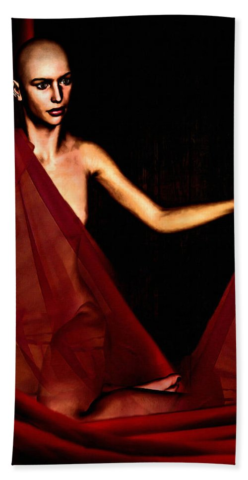 Breast Cancer Hand Towel featuring the digital art Conquerable Quest by Lourry Legarde