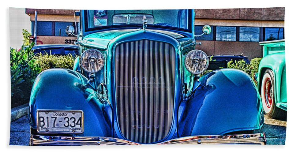 Cars Hand Towel featuring the photograph Cool Front End Hdr by Randy Harris