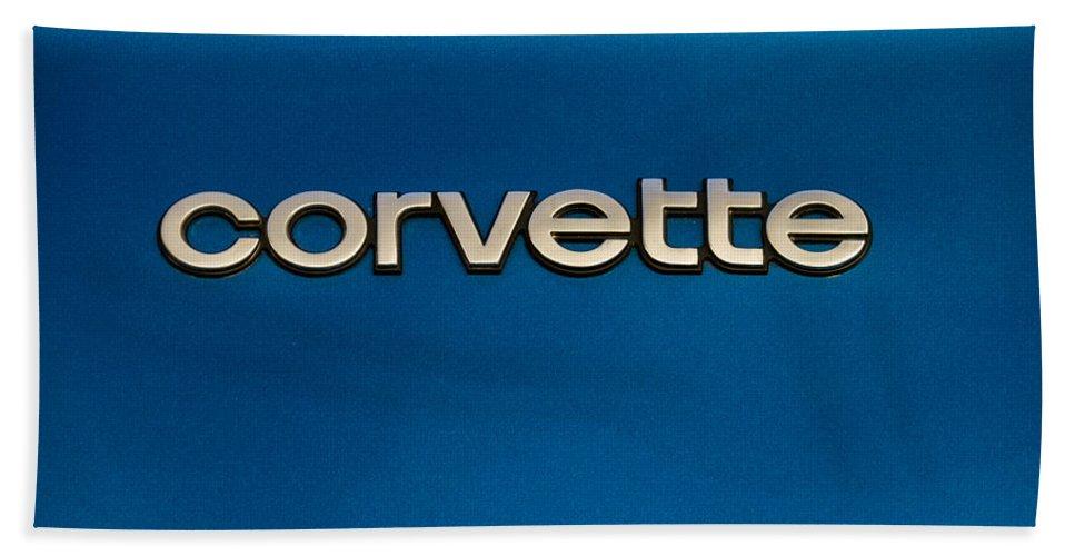 Exotics Bath Sheet featuring the digital art Corvette Badge by Douglas Pittman