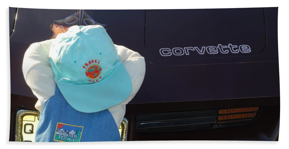 Corvette Hand Towel featuring the photograph Corvette Crier by Richard Bryce and Family