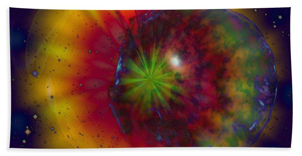 Cosmic Light Bath Sheet featuring the digital art Cosmic Light by Linda Sannuti