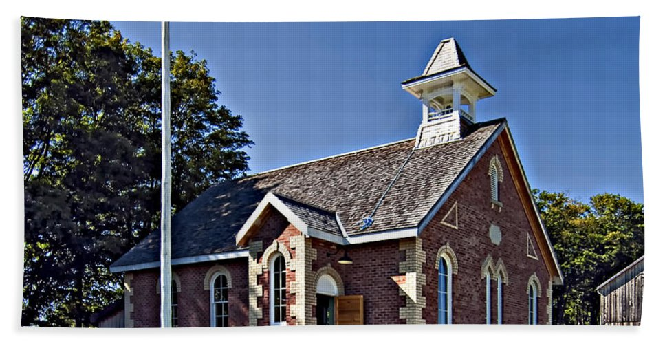 Grey Roots Museum & Archives Hand Towel featuring the photograph Country Church by Steve Harrington