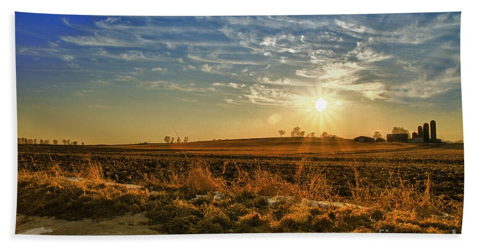 Sun Bath Sheet featuring the photograph Country Light by Joel Witmeyer