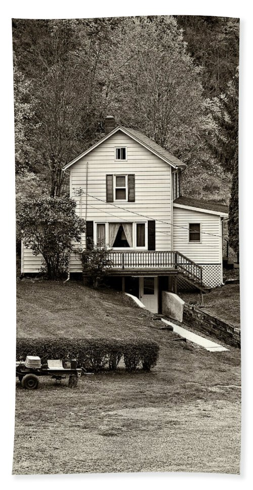 West Virginia Bath Sheet featuring the photograph Country Living Sepia by Steve Harrington
