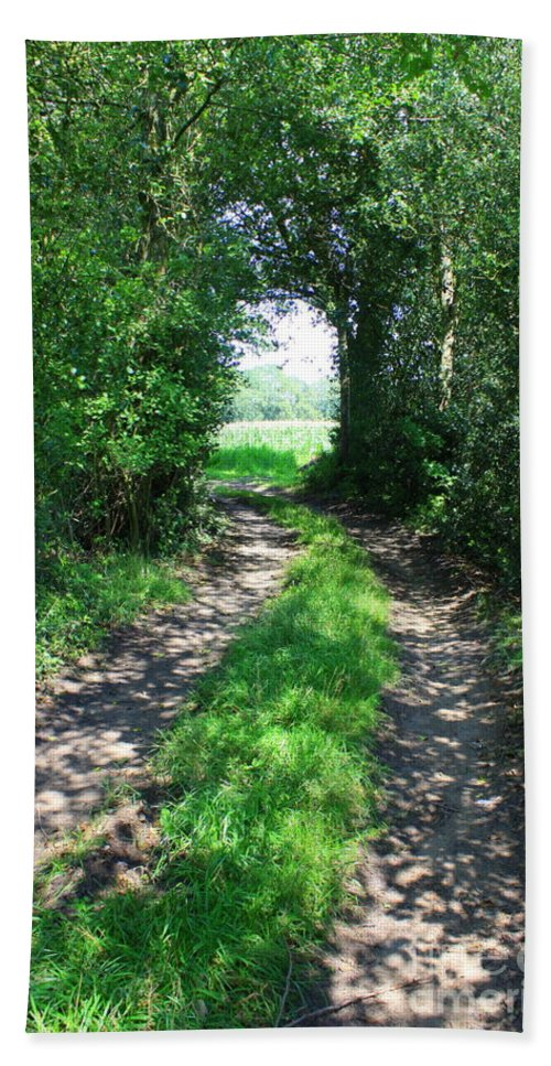 Country Road Hand Towel featuring the photograph Country Road by Carol Groenen