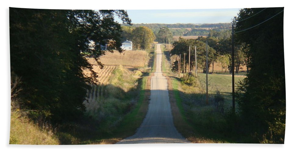 Farm Hand Towel featuring the photograph Country Roads by Bonfire Photography